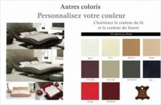 lit en cuir italien de luxe luxen, personnalisé