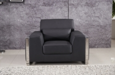 fauteuil 1 place en cuir italien buffle luxy, noir