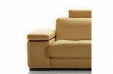 fauteuil une place en cuir italien maison blanche, beige