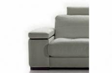 fauteuil une place en cuir italien maison blanche, gris clair