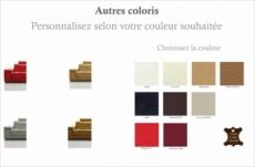 fauteuil une place en cuir italien maison blanche, couleur personnalisée