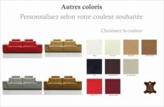 canapé 2 places en cuir italien maison blanche, couleur personnalisée