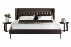 lit design en tissu de luxe marta, couleur chocolat n°06, 140x190