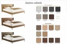 lit design en tissu de luxe marta, choix de la couleur, 140x200