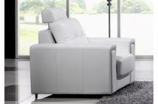 fauteuil une place en cuir prestige luxe haut de gamme italien matignon, blanc