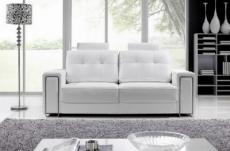 canapé 2 places en cuir prestige luxe haut de gamme italien matignon, blanc