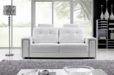 canapé 3 places en cuir prestige luxe haut de gamme italien matignon, blanc