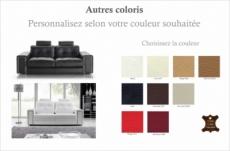 canapé 2 places en cuir prestige luxe haut de gamme italien matignon, couleur personnalisée