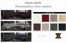 canapé d'angle double relax en cuir de buffle italien de luxe 7/8 places maxirelax, couleur personnalisée, angle droit