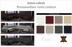 canapé d'angle double relax en cuir de buffle italien de luxe 7/8 places maxirelax, personnalisée, angle gauche