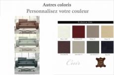 canapé 3 places en cuir italien buffle milano, couleurs personnalisées