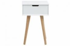 chevet design actuel, bois blanc et chêne, miska