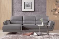 canapé d'angle en cuir buffle italien de luxe 5 places costes moka, angle gauche