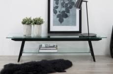 meuble tv design de qualité en verre et structure noir, mona
