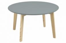 table basse tendance en bois laqué gris foncé, mona