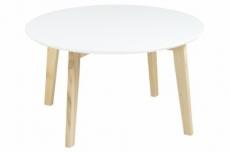 table basse mona, plateau en bois laqué