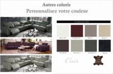 canapé d'angle relax en cuir de buffle italien de luxe double relax électrique, 7/8 places, monte carlo, couleur personnalisée, angle droit