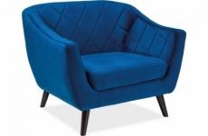 fauteuil montini 1 place en tissu de qualité, couleur bleu foncé