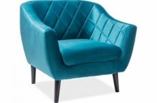 fauteuil montini 1 place en tissu de qualité, couleur turquoise