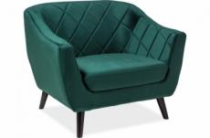 fauteuil montini 1 place en tissu de qualité, couleur vert