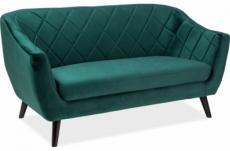 canapé montini 2 places en tissu de qualité, couleur vert