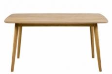 table à manger naba, bois massif/plaqué chêne