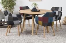 table à manger najat, bois massif/placage chêne