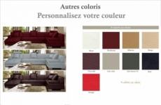 canapé d'angle 8 places napo, couleur personnalisée, angle droit