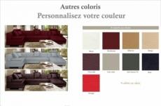 canapé d'angle 8 places napo, couleur personnalisée, angle gauche