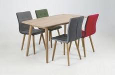 table à manger design bois massif clair, naxis