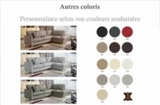 canapé d'angle en 100% tout cuir italien de luxe 5 places, convertible et avec coffre, nilsen, couleur personnalisée, angle droit