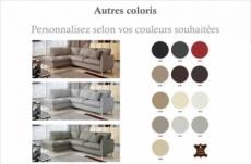 canapé d'angle en 100% tout cuir italien de luxe 5 places, convertible et avec coffre, nilsen, couleur personnalisée, angle gauche