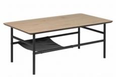 table basse olga, feuille de chêne sauvage, étagère noire