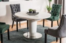 table à manger extensible ronde / ovale orba ceramic couleur gris et blanc