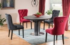 table à manger extensible ronde / ovale orba ceramic couleur gris et noire