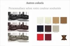 canapé d'angle en cuir italien 8 places, venesia, couleur personnalisée, angle droit