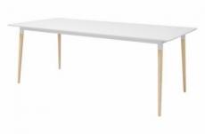 table à manger ornella, plateau en mélaminé, blanc