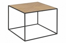 table basse ornella, placage paulownia nature