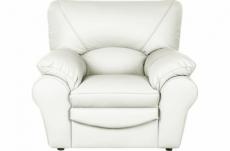 fauteuil 1 place en 100% tout cuir italien vachette osatis, couleur ivoire