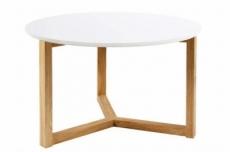table basse oscarine, plateau en bois laqué