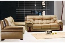 ensemble oxford 2 pièces canapé 3 places + 2 places en cuir luxe italien vachette, beige