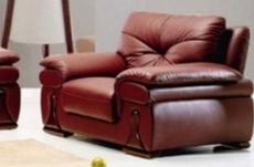 fauteuil une place en cuir luxe italien vachette, bordeaux