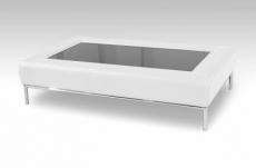 table basse design conti, blanc
