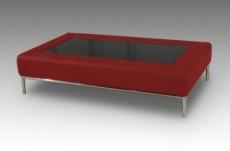 table basse design conti, bordeaux