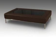 table basse design conti, chocolat