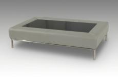 table basse design conti, gris clair