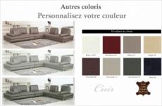canapé d'angle en cuir buffle italien de luxe 7/8 places penthouse, couleur personnalisée, angle droit