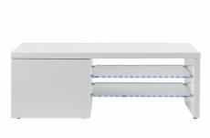 meuble tv design blanc laqué brillant perla