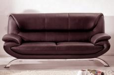 canapé 3 places en cuir italien jonah, chocolat
