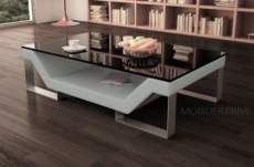 table basse design perle, gris clair